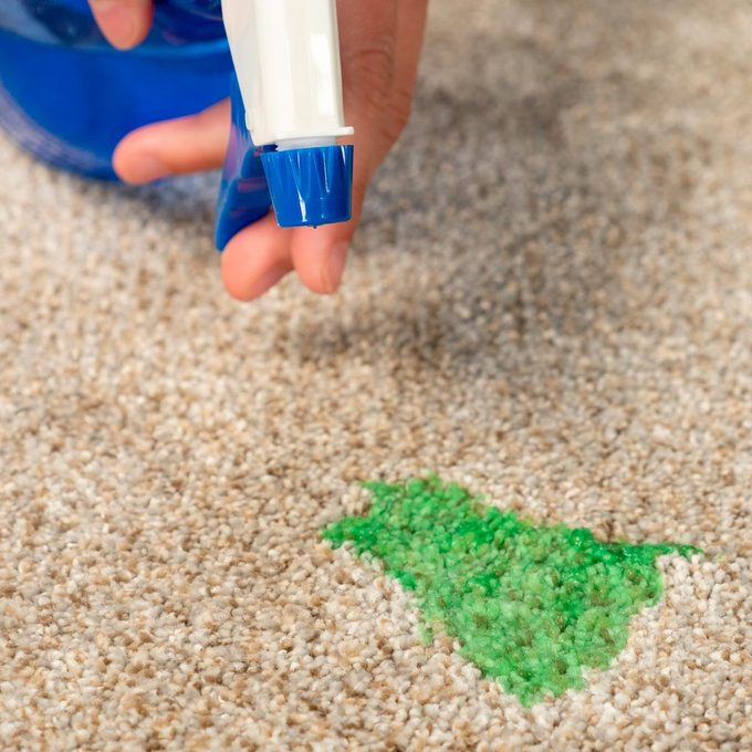 Cleaning slime in carpet