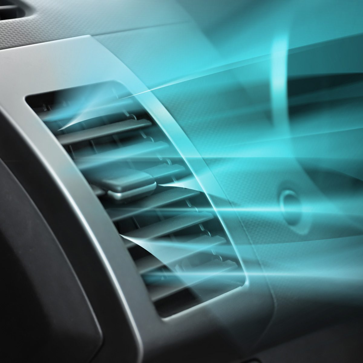 Switched-on-conditioner-with-flow-of-cold-air-in-car
