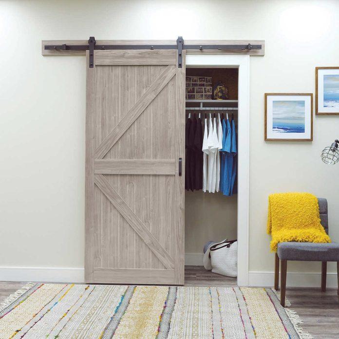 Barndoor closet