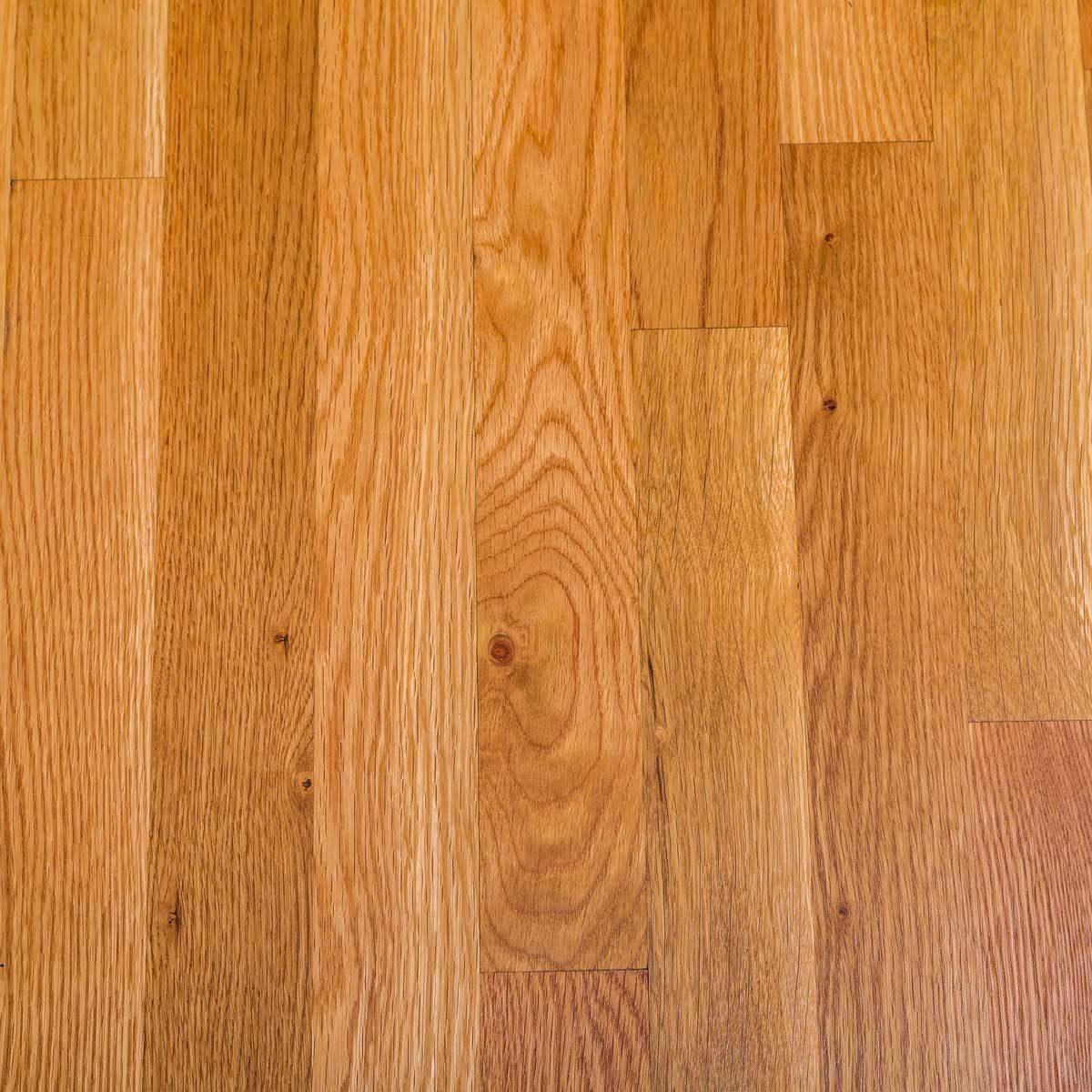 shiny polished hardwood floor