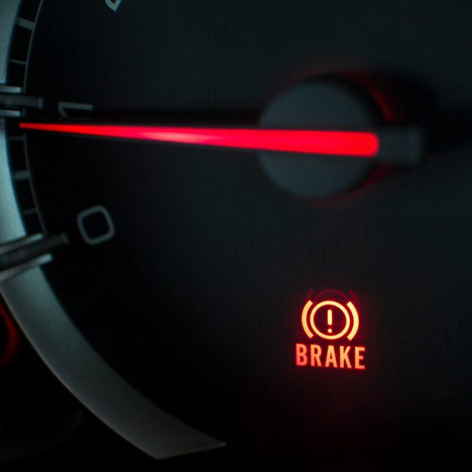 brake light on