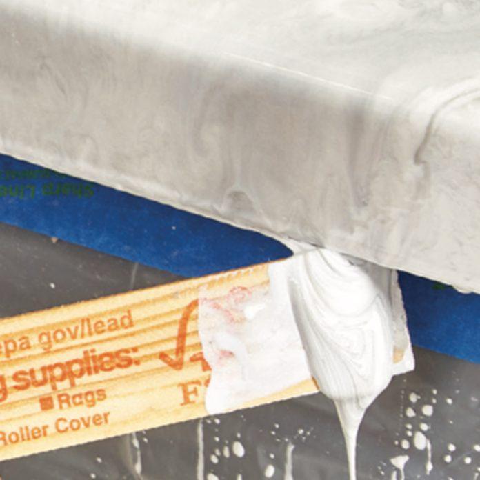 scrape off drips of epoxy countertop