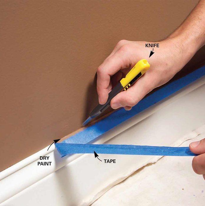 painters tape trim