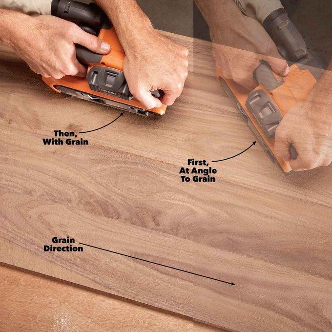 belt sander top tool for rough flattening