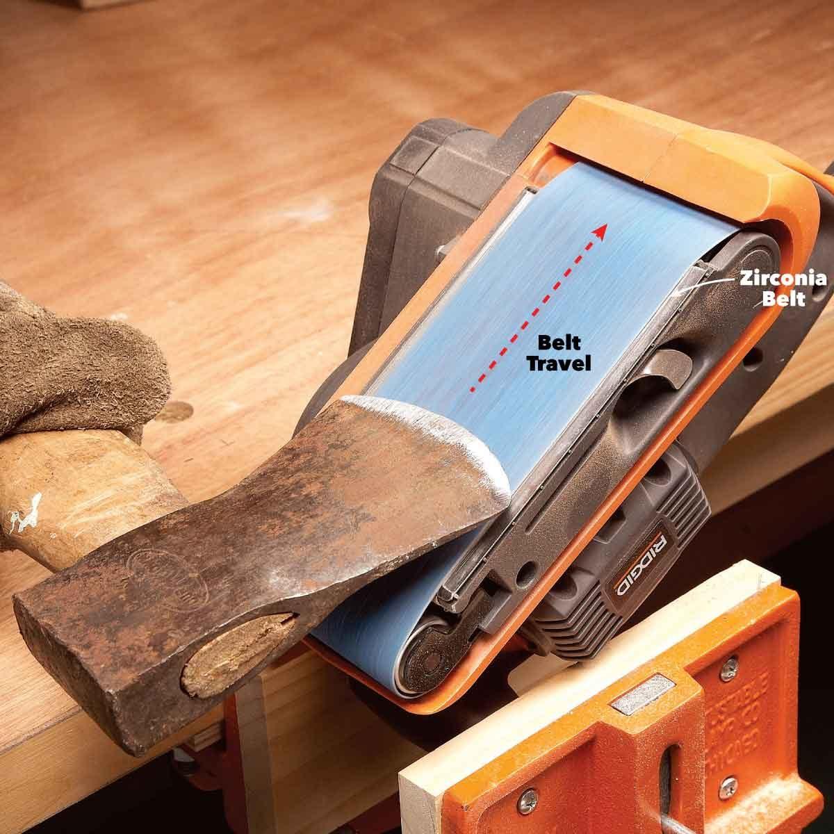 belt sander good for rough sharpening