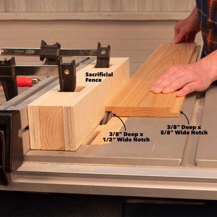 outdoor folding bar cut shiplap boards