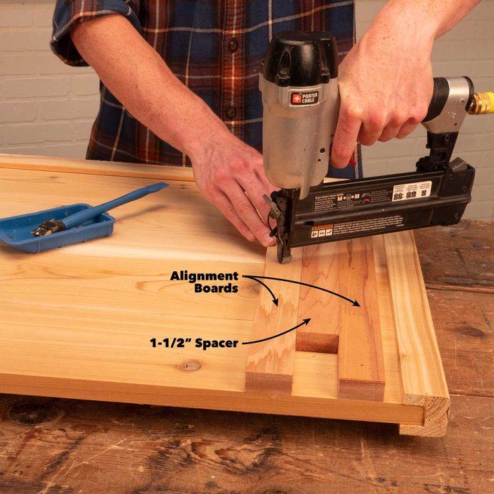 folding outdoor bar attach alignment boards