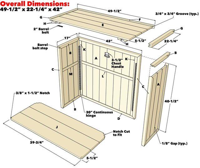 folding outdoor bar project plan