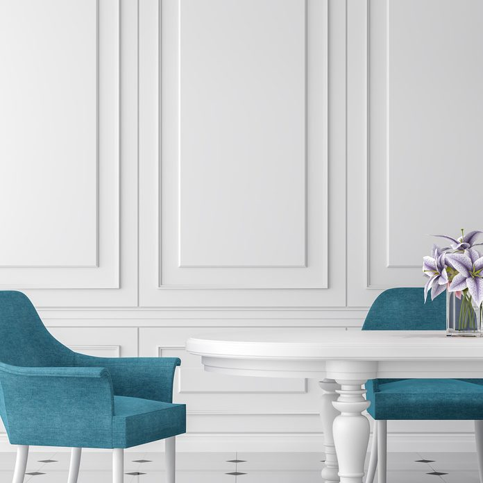 Fancy dining room paneled walls