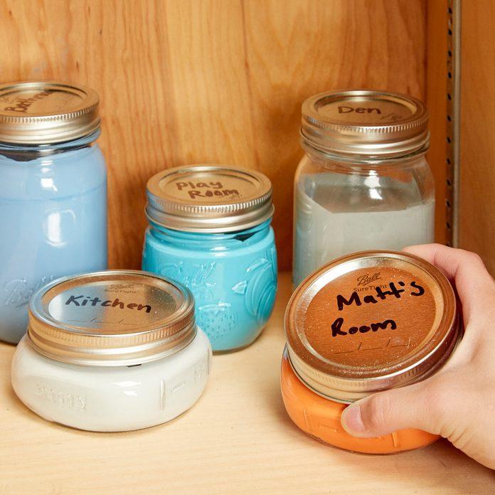 HH touch up paint saver mason jars