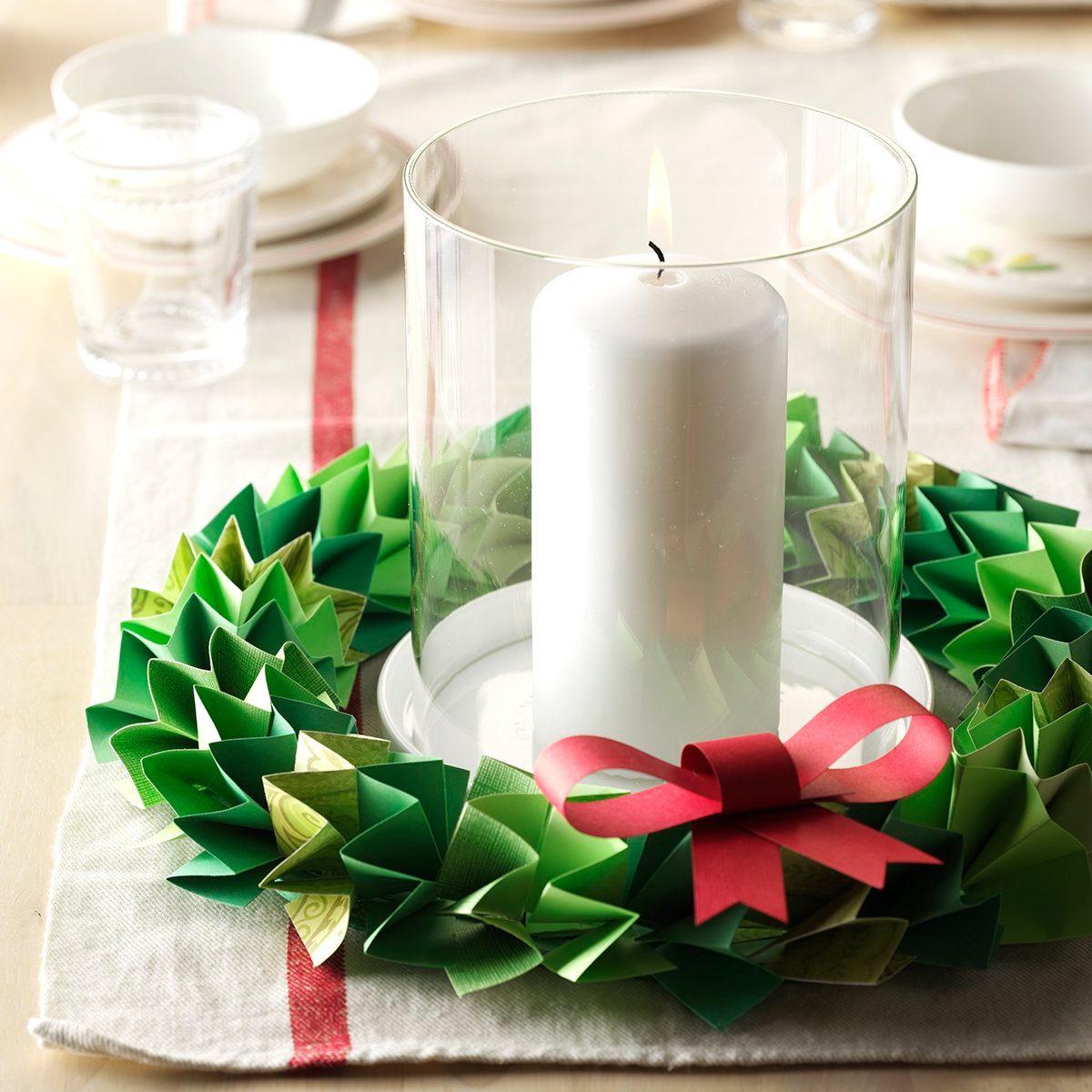 Paper wreath craft