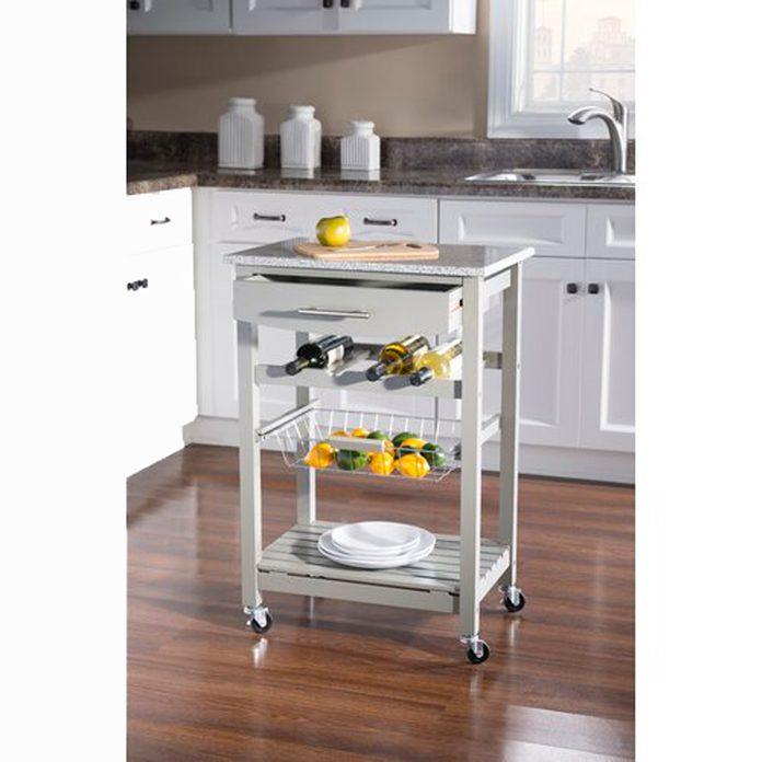 Kitchen Cart with Granite Top