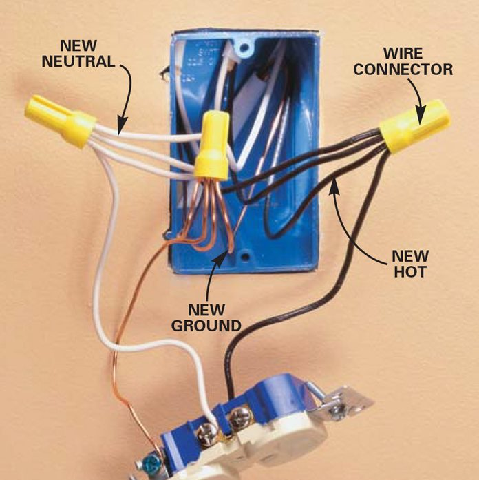 Rewire the existing electrical outlet