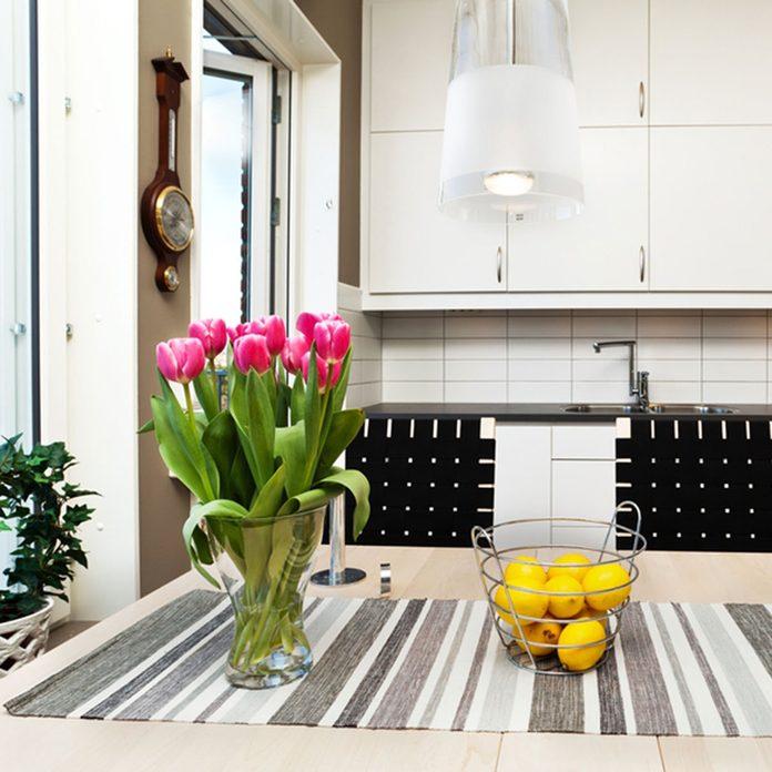 Detail of a fancy kitchen