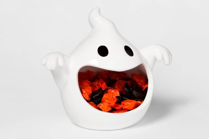 spooky target decor decorations halloween ghost candy dish bowl