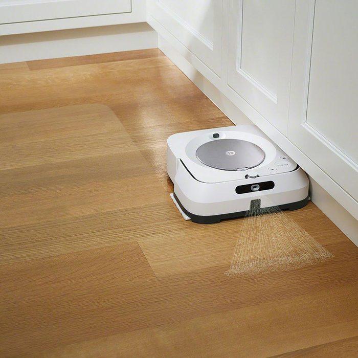 robot mop cleaning hardwood floors irobot