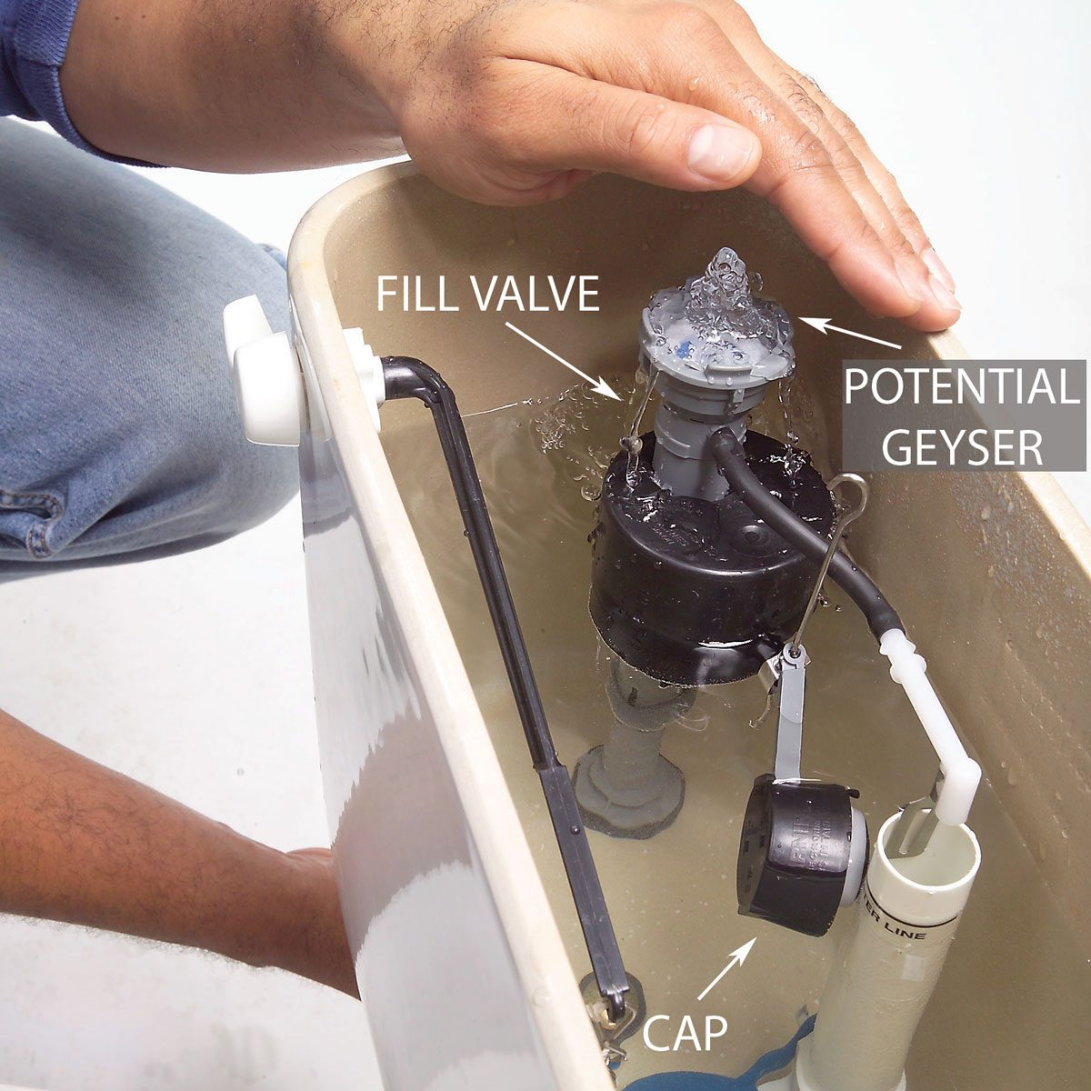 Flush the Valve with Water