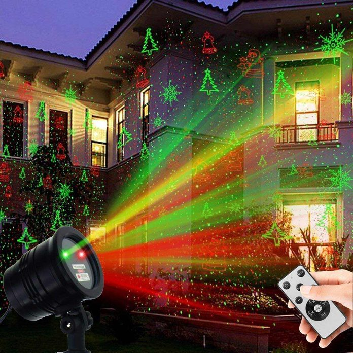 outdoor Christmas lights projector