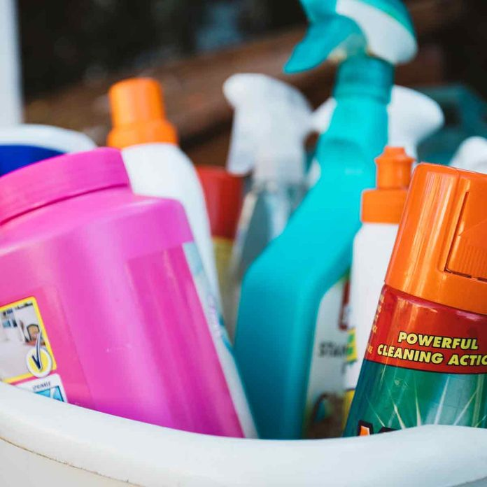 A-basket-full-of-cleaning-products-with-the-words-powerful-cleaning-action-on-show