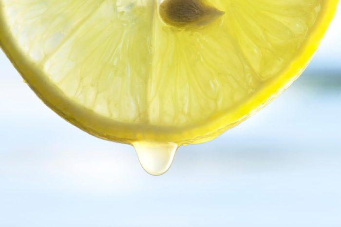 Fresh Lemon juice from the Lemon.