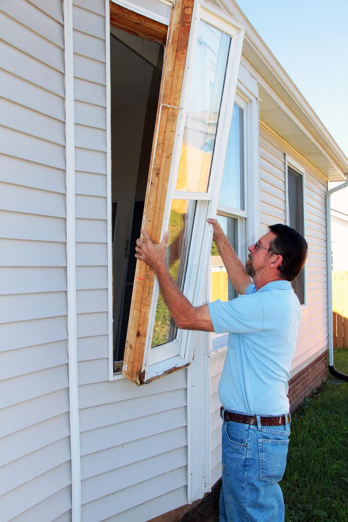 Windows in older home have wood frames, the wood is rotting, new vinyl e-glass windows will be installed