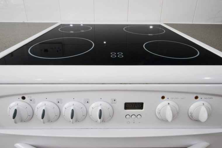 classic white four ring electric hob with dials