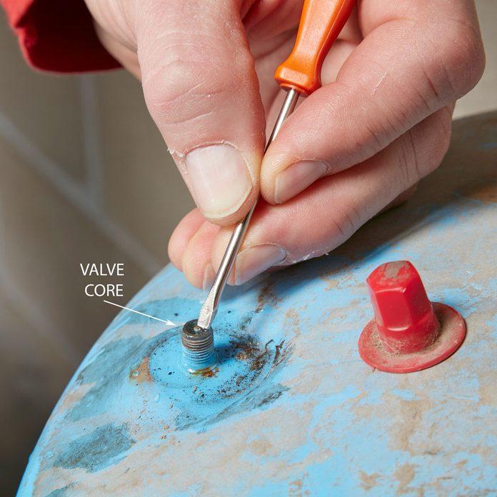 Test the valve