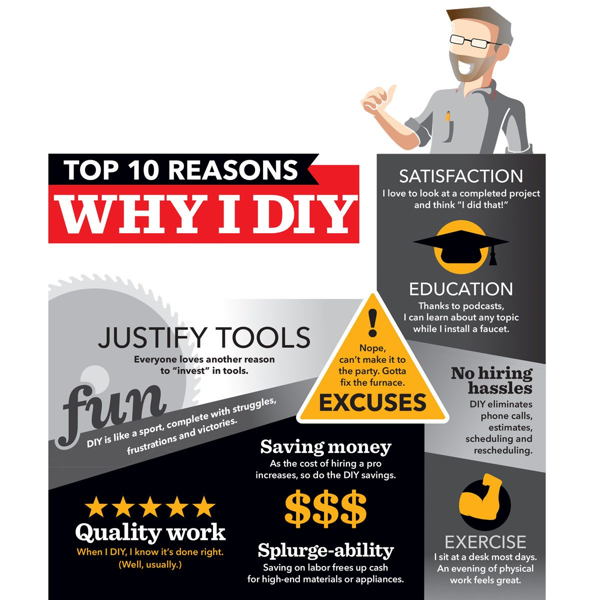 top 10 reasons why i DIY