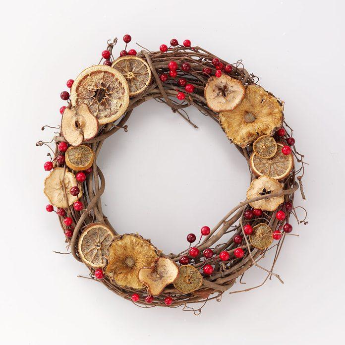 Citrus and Cranberry Wreath