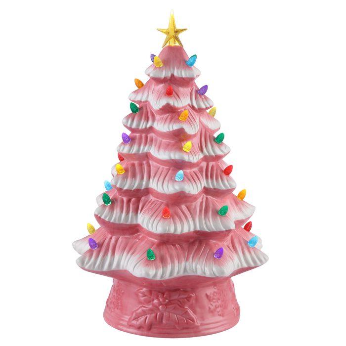 Pre-Lit Ceramic Christmas Tree