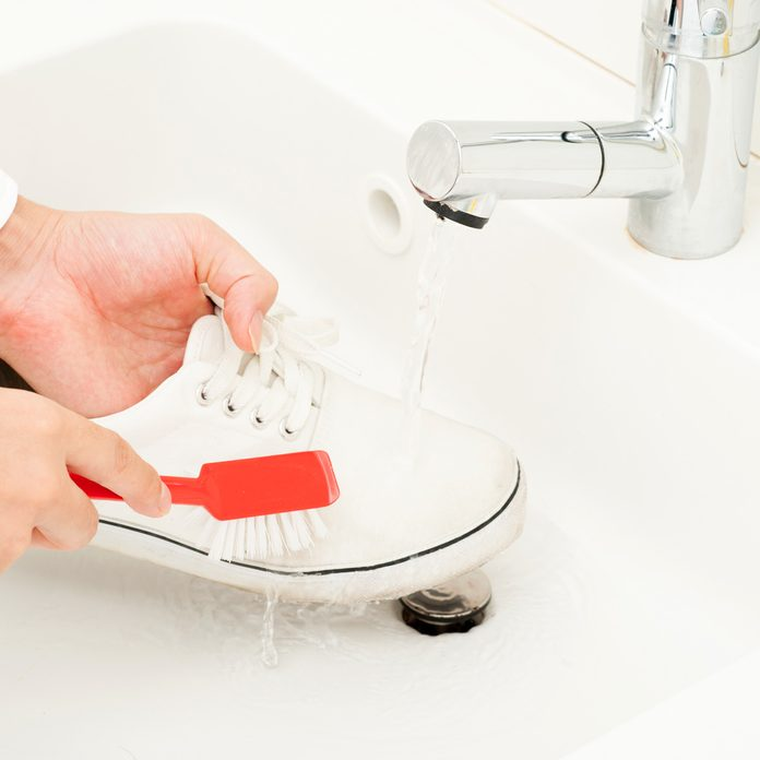 Wash shoes and clean white shoes