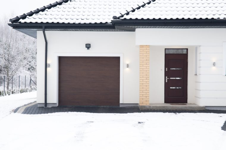 Exterior of detached house during winter time