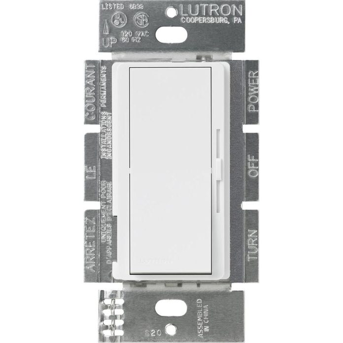 white-lutron-dimmers