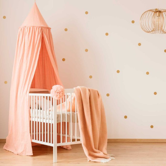 nursery dots on wall