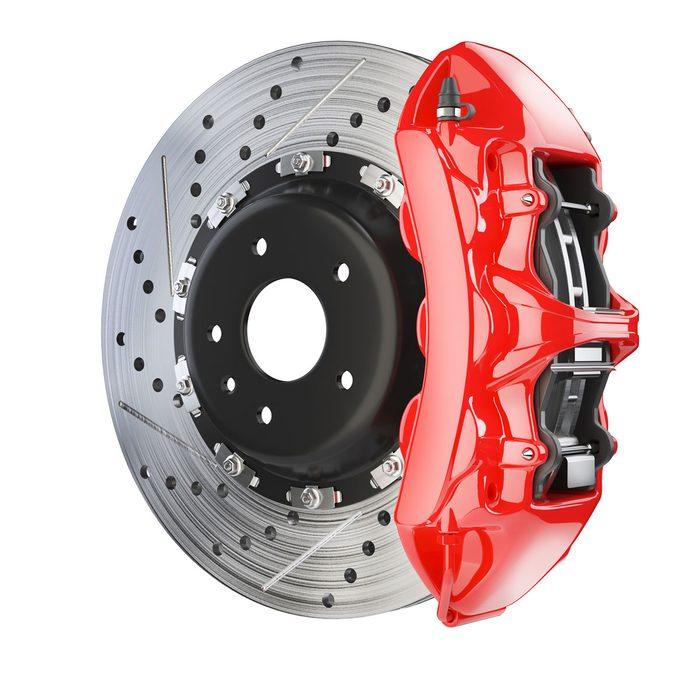 Photo of a brake caliper