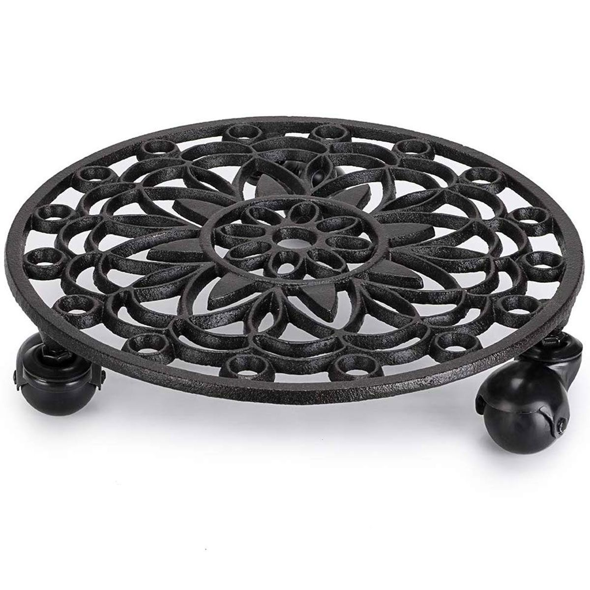 Plant stand with wheels