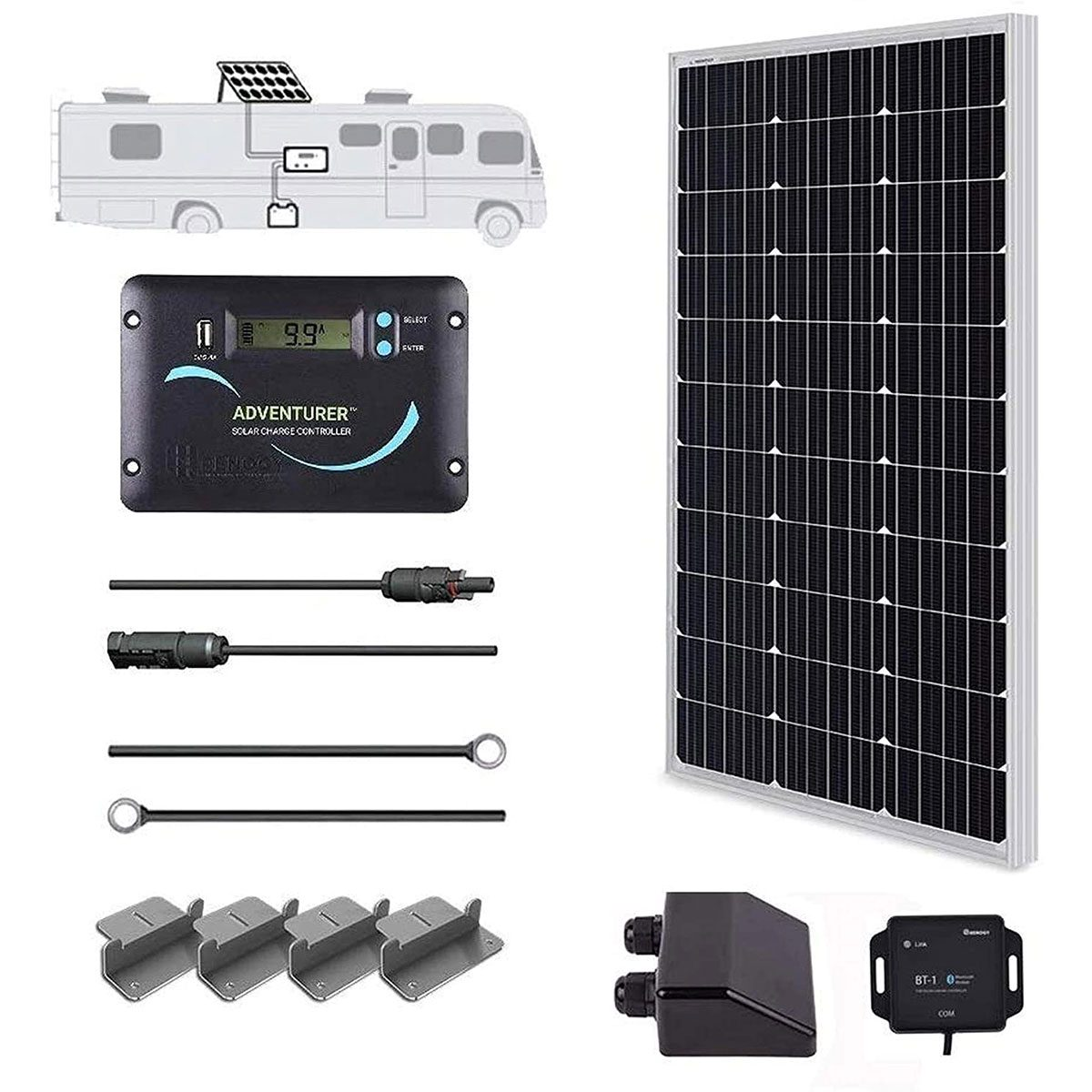 Photo of the Renogy solar kit