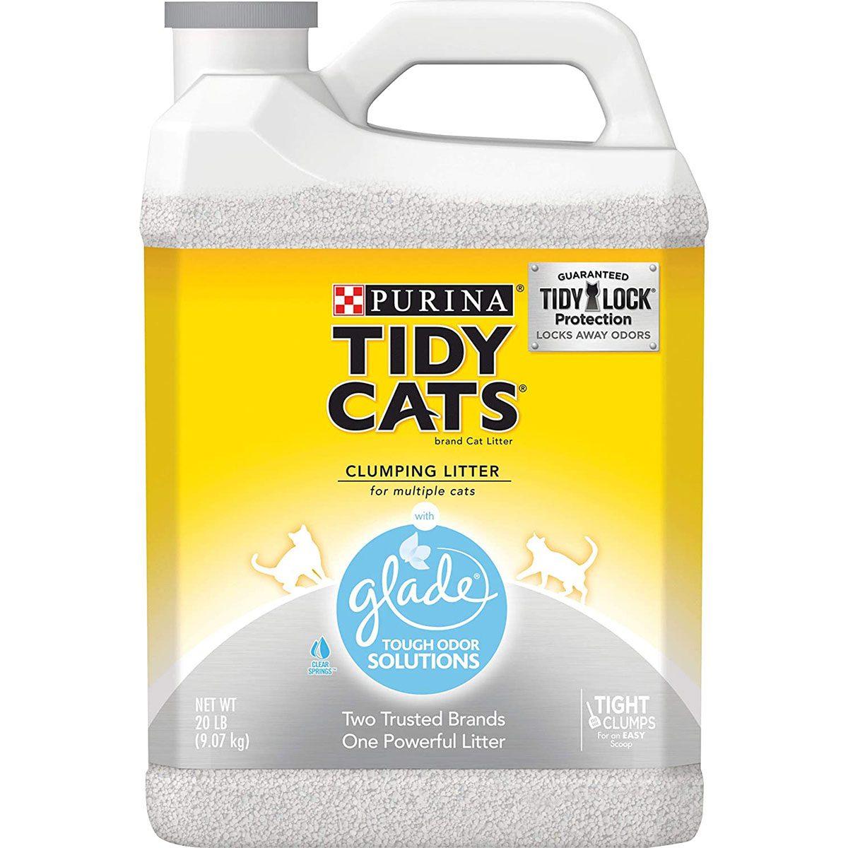 Bottle of Tidy Cats litter