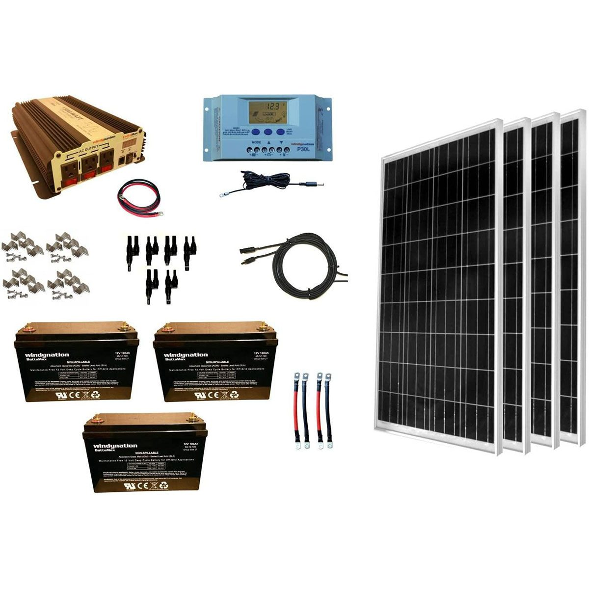WindyNation solar kit