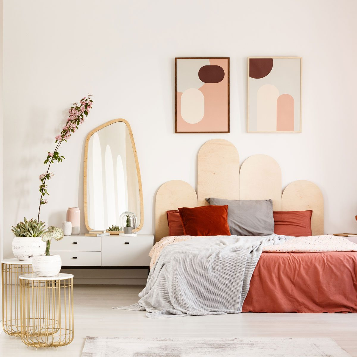 Bedroom with desert-inspired colors