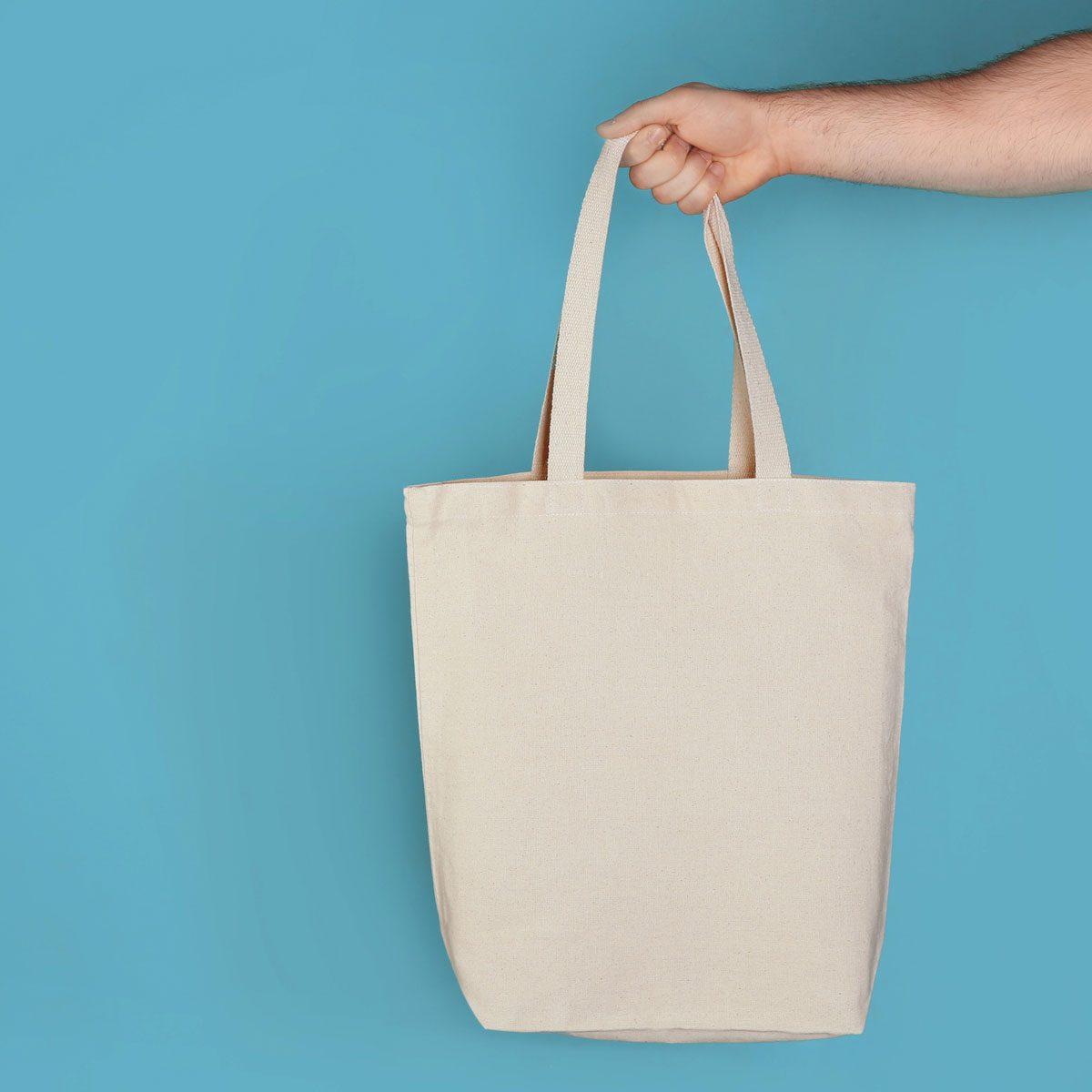 White cloth bag