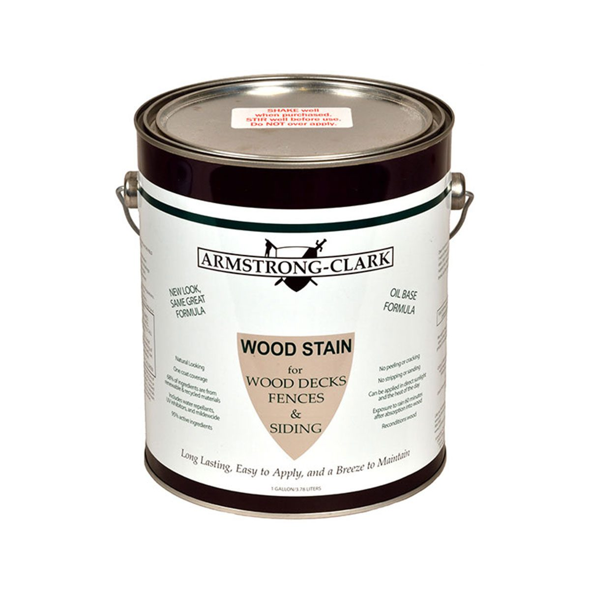 Can of Armstrong-Clark wood stain