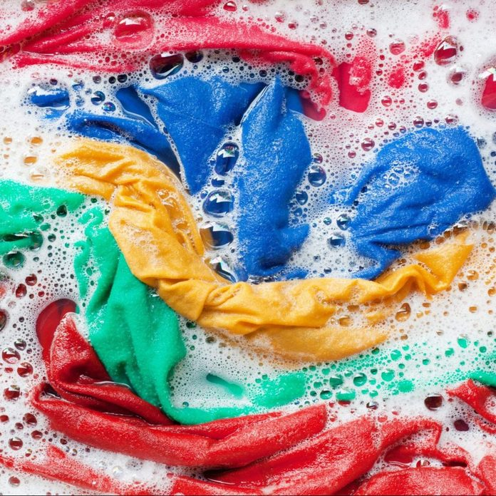 Full Frame Shot Of Colorful Laundry In Water
