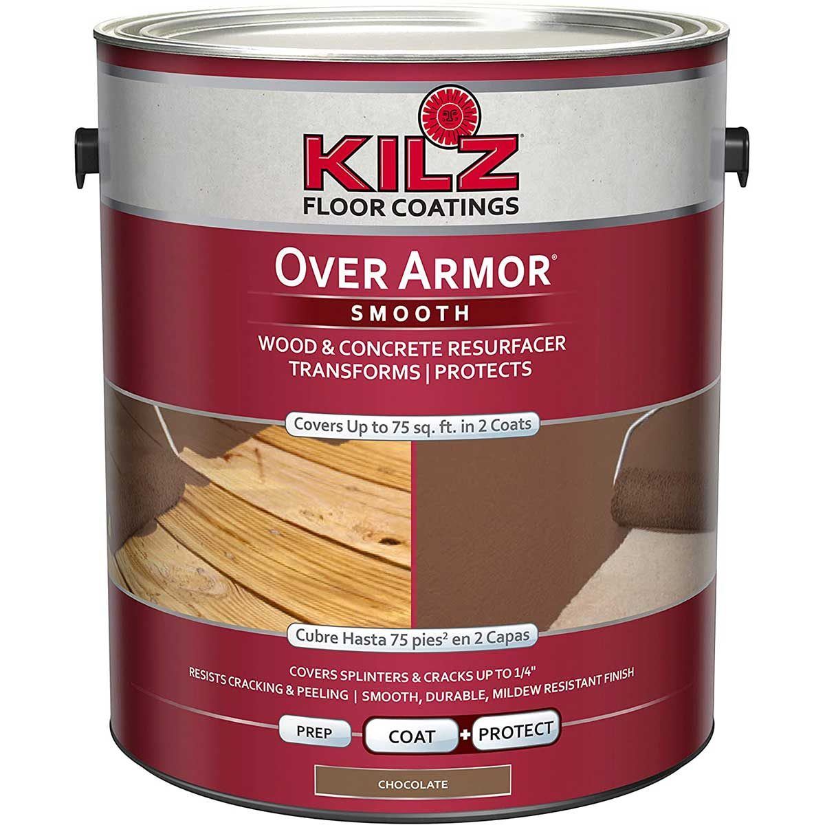 A can of Kilz wood coating