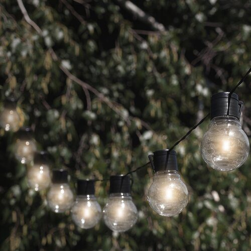 outdoor solar globe string lights
