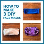 How to Make 3 Different DIY No-Sew Face Masks