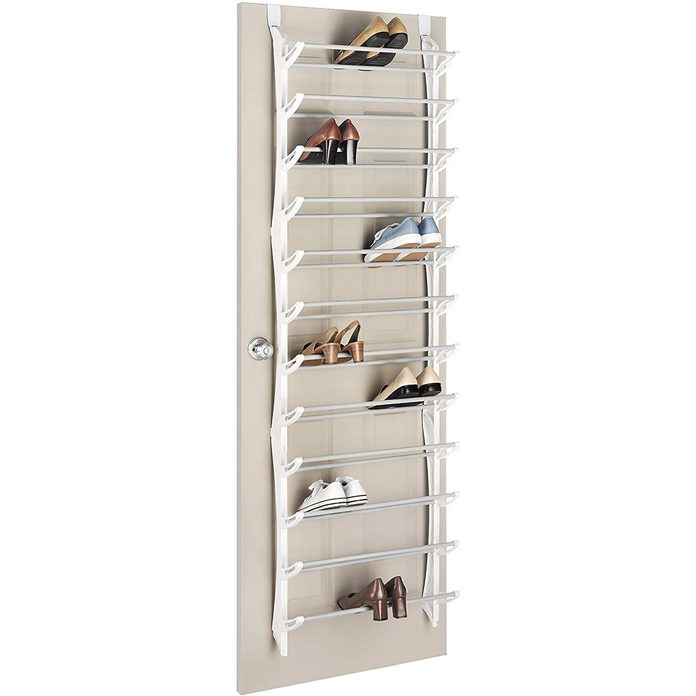 Over door shoe storage