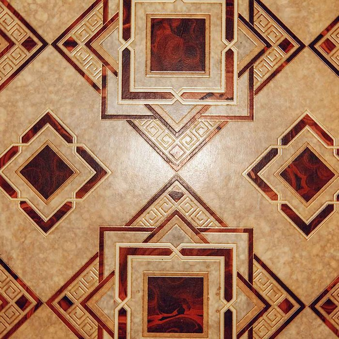 Brown geometric pattern linoleum