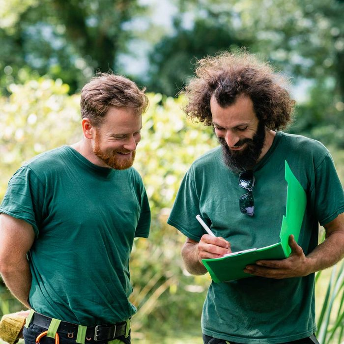 Two landscapers