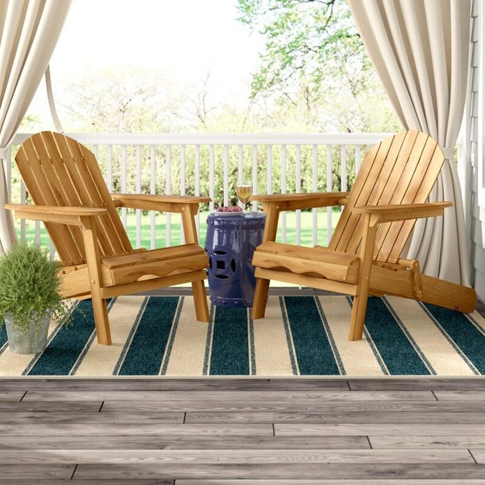 Solid Wood Folding Adirondack Chair